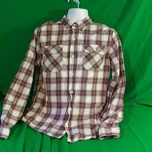 Converse one star button down plaid shirt M
